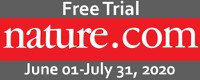 May-25 〔News〕 Nature Journals Free Trial (June 1 - July 31, 2020)